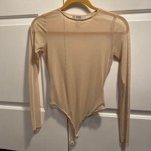 Sheer tan bodysuit